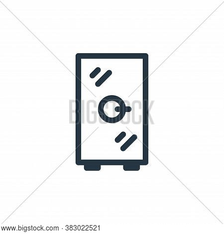 locker icon isolated on white background from office equipment collection. locker icon trendy and mo
