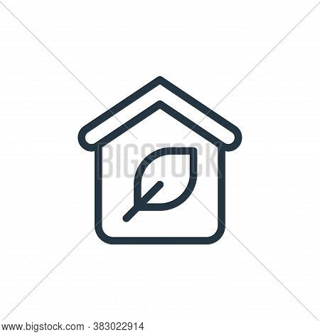 sustainable home icon isolated on white background from smarthome collection. sustainable home icon