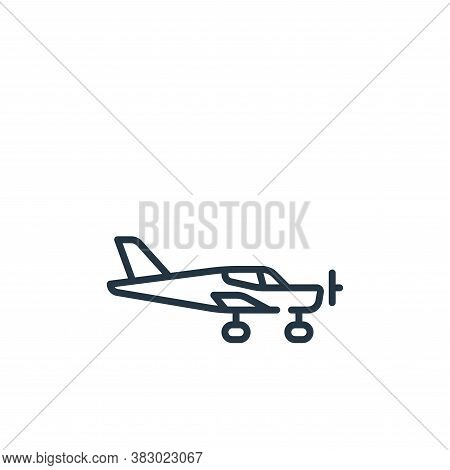 aircraft icon isolated on white background from vehicles transportation collection. aircraft icon tr
