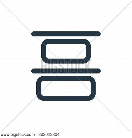 top alignment icon isolated on white background from text editor collection. top alignment icon tren