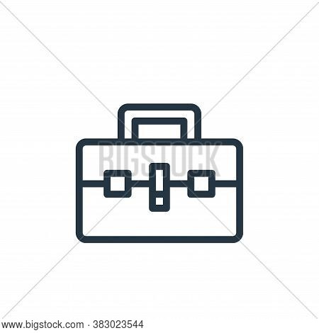 briefcase icon isolated on white background from business and money collection. briefcase icon trend