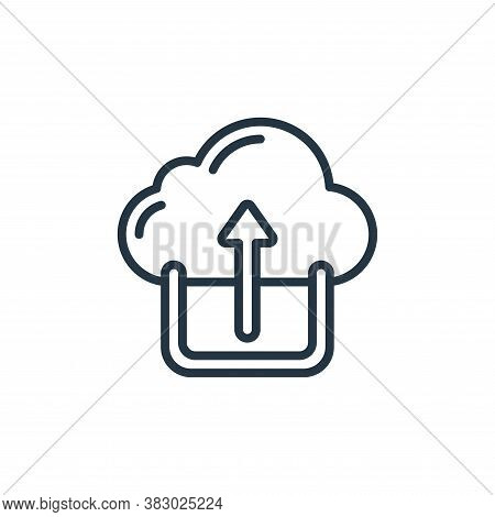 cloud upload icon isolated on white background from cloud computing collection. cloud upload icon tr