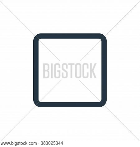 stop icon isolated on white background from user interface collection. stop icon trendy and modern s