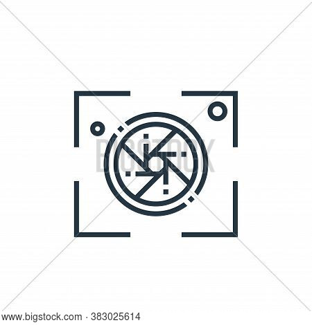 shoot icon isolated on white background from photography collection. shoot icon trendy and modern sh