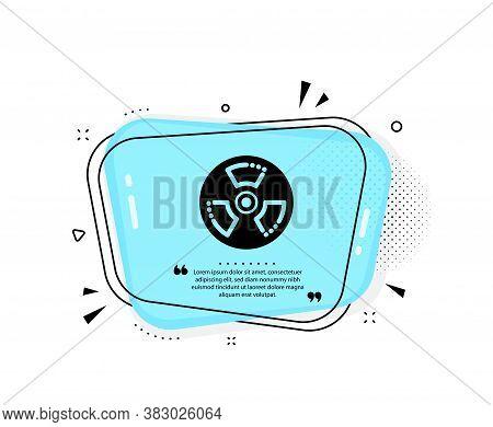Chemical Hazard Icon. Quote Speech Bubble. Laboratory Toxic Sign. Chemistry Warning Symbol. Quotatio
