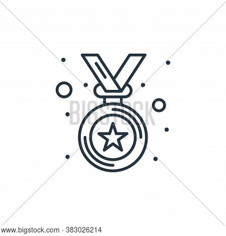 medal icon isolated on white background from digital marketing collection. medal icon trendy and mod