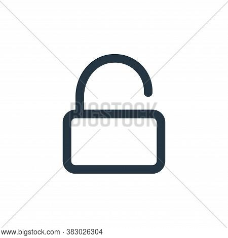 unlock icon isolated on white background from user interface collection. unlock icon trendy and mode