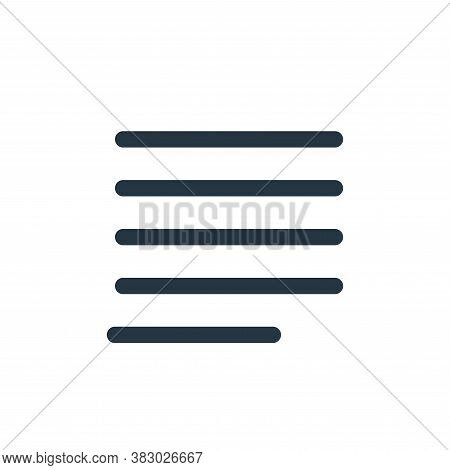 justify paragraph icon isolated on white background from text editor collection. justify paragraph i