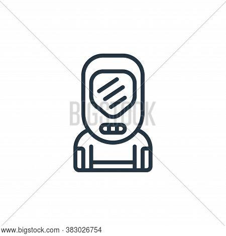 hazmat icon isolated on white background from coronavirus collection. hazmat icon trendy and modern