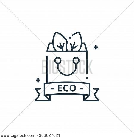 eco bag icon isolated on white background from mother earth day collection. eco bag icon trendy and