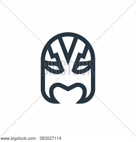 mask icon isolated on white background from mexico collection. mask icon trendy and modern mask symb