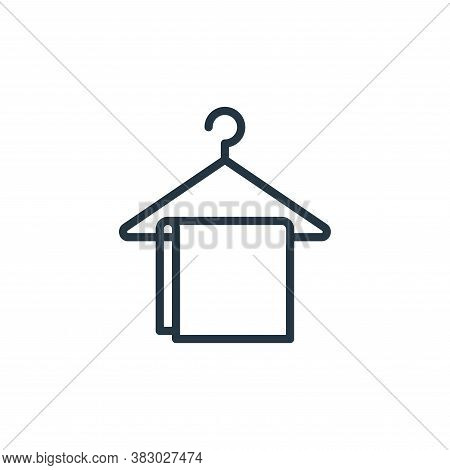 hanger icon isolated on white background from bathroom accessories collection. hanger icon trendy an