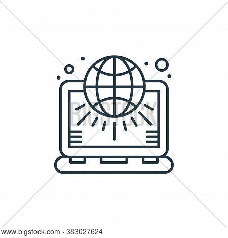 laptop icon isolated on white background from digital marketing collection. laptop icon trendy and m