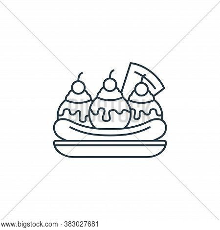 ice cream icon isolated on white background from birthday party collection. ice cream icon trendy an