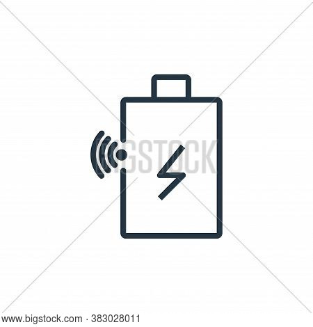 battery status icon isolated on white background from internet of thing collection. battery status i