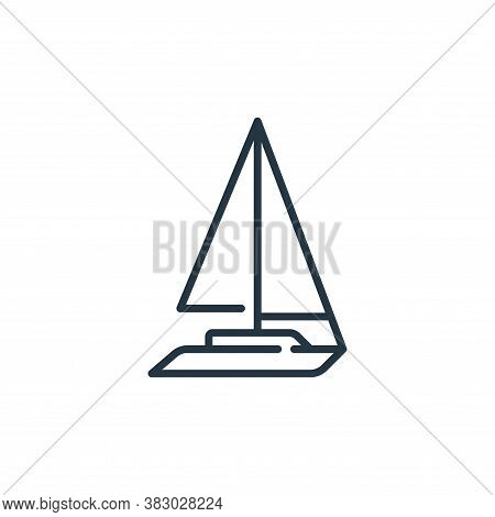 sail boat icon isolated on white background from vehicles transportation collection. sail boat icon
