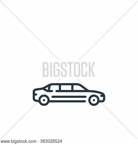 limousine icon isolated on white background from vehicles transportation collection. limousine icon