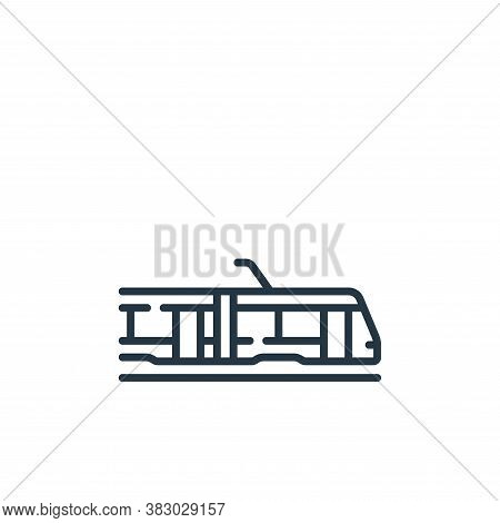 tram icon isolated on white background from vehicles transportation collection. tram icon trendy and