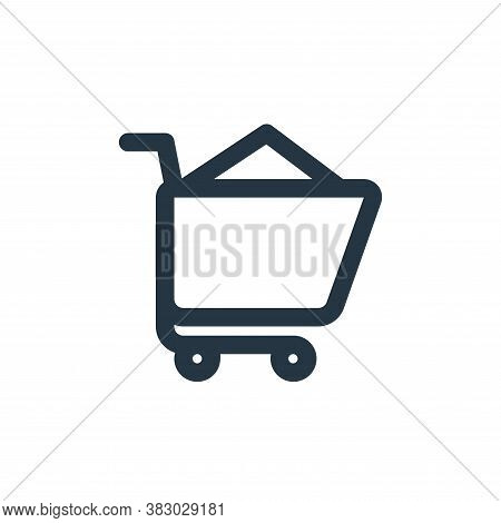 shopping cart icon isolated on white background from ecommerce ui collection. shopping cart icon tre