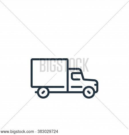 van icon isolated on white background from vehicles transportation collection. van icon trendy and m