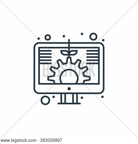 digital investment icon isolated on white background from digital marketing collection. digital inve