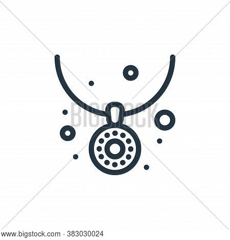 necklace icon isolated on white background from jewellery collection. necklace icon trendy and moder