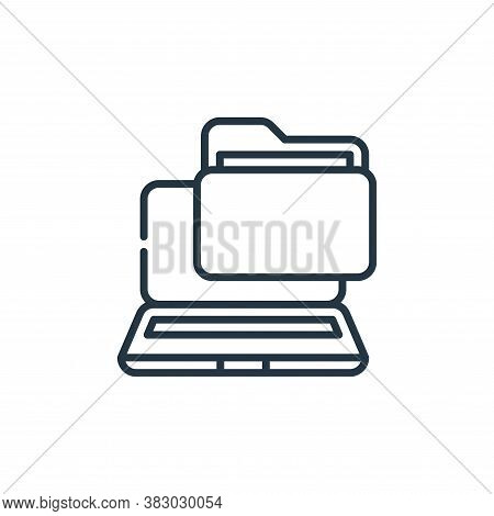 laptop icon isolated on white background from cyber security collection. laptop icon trendy and mode