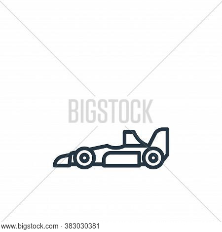 formula icon isolated on white background from vehicles collection. formula icon trendy and modern f