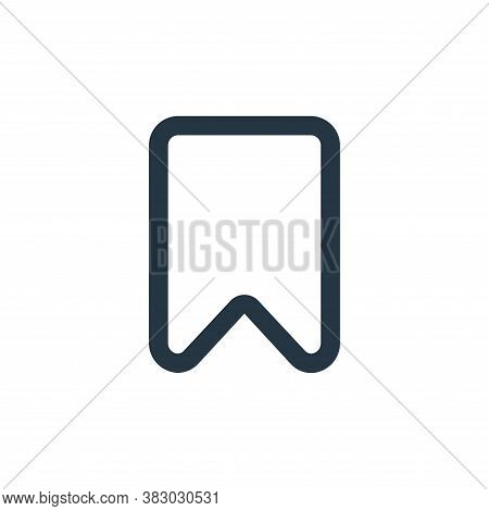 bookmark icon isolated on white background from ecommerce ui collection. bookmark icon trendy and mo