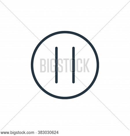 pause icon isolated on white background from media players collection. pause icon trendy and modern