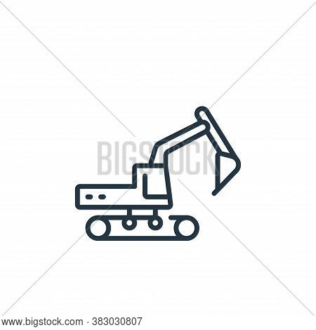 excavator icon isolated on white background from vehicles transportation collection. excavator icon