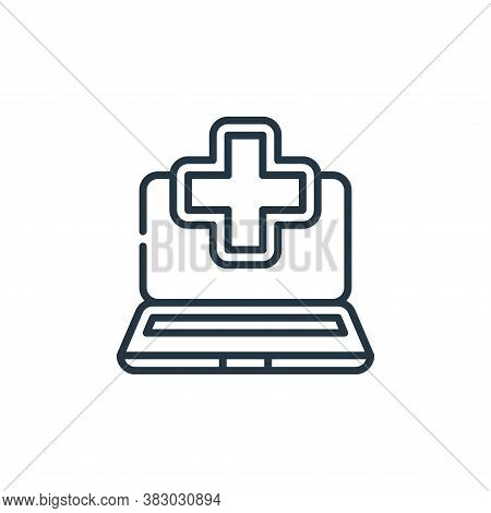 rehabilitation icon isolated on white background from cyber security collection. rehabilitation icon