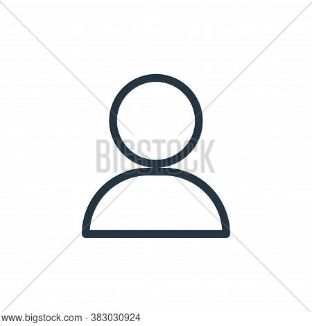 user icon isolated on white background from communication and media collection. user icon trendy and