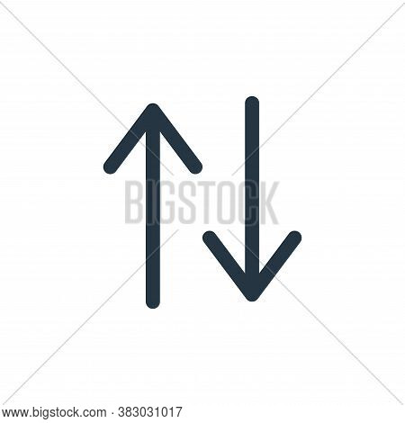 up and down arrows icon isolated on white background from arrows collection. up and down arrows icon