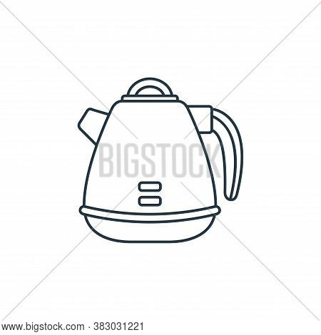 kettle icon isolated on white background from coffee shop collection. kettle icon trendy and modern