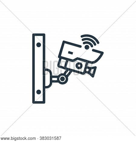 cctv icon isolated on white background from internet of thing collection. cctv icon trendy and moder