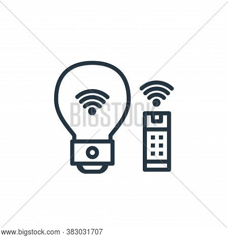 smart lighting icon isolated on white background from internet of thing collection. smart lighting i