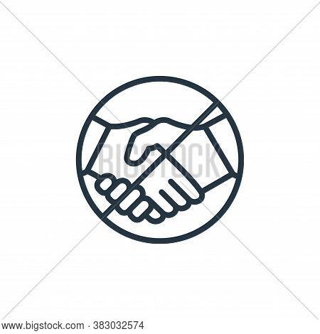 no handshake icon isolated on white background from coronavirus collection. no handshake icon trendy