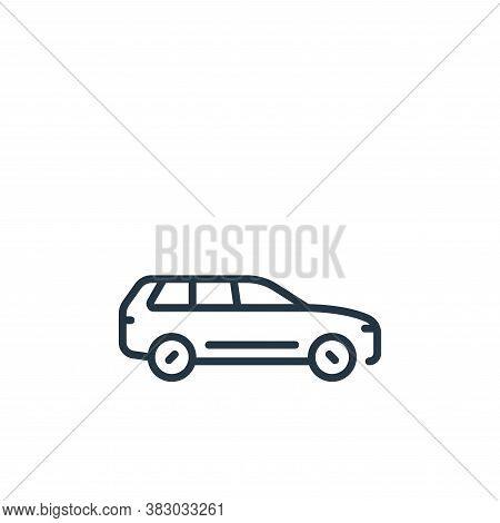 suv icon isolated on white background from vehicles transportation collection. suv icon trendy and m