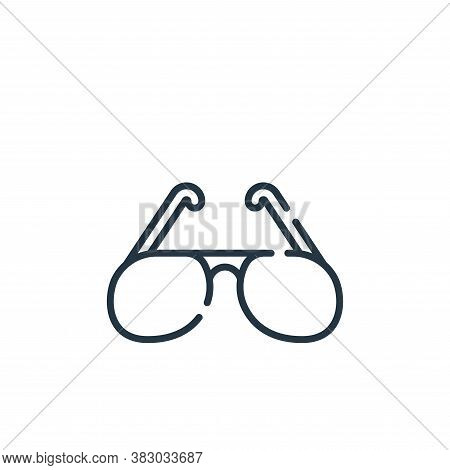 sunglasses icon isolated on white background from rock and roll collection. sunglasses icon trendy a