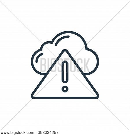 error icon isolated on white background from cloud computing collection. error icon trendy and moder