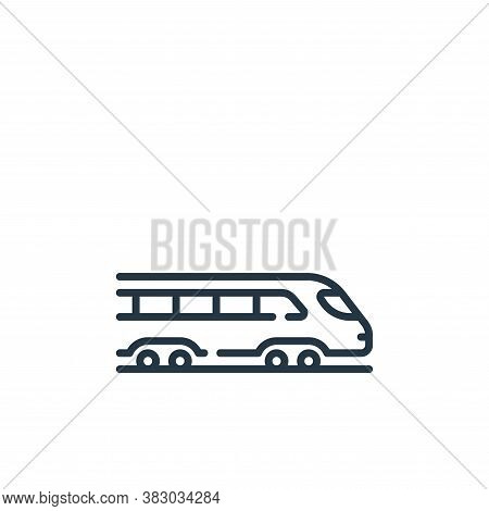 train icon isolated on white background from vehicles transportation collection. train icon trendy a