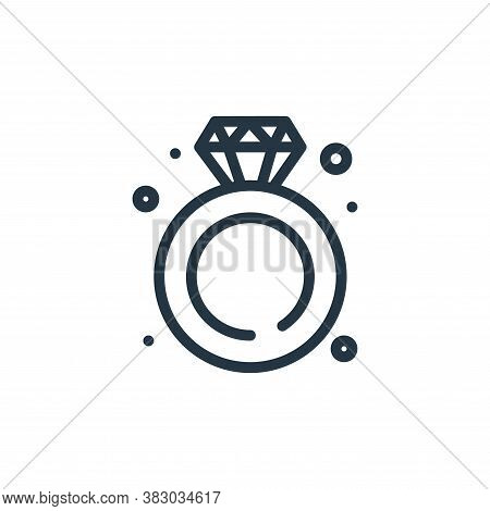 diamond ring icon isolated on white background from jewellery collection. diamond ring icon trendy a