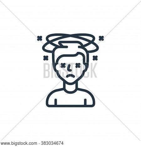 dizziness icon isolated on white background from coronavirus collection. dizziness icon trendy and m