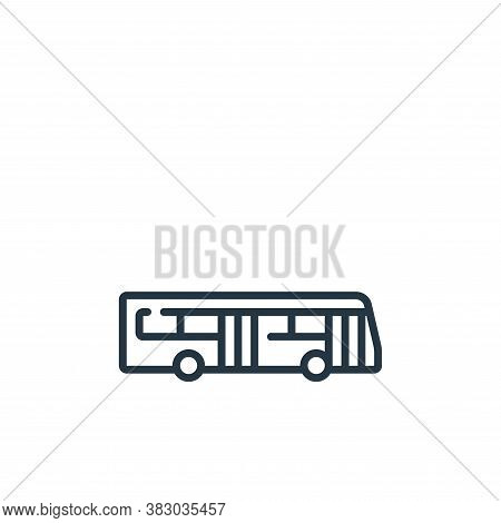 electric bus icon isolated on white background from vehicles transportation collection. electric bus