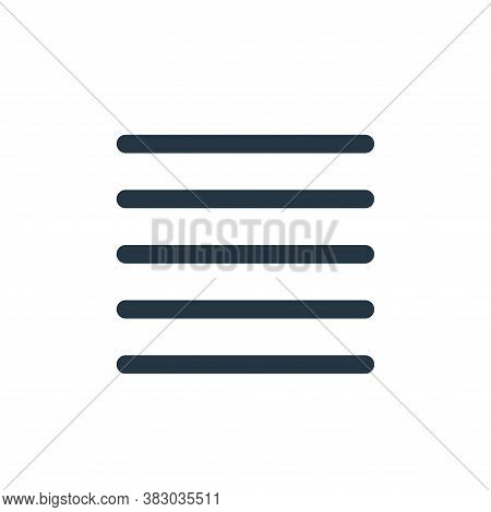 justify icon isolated on white background from text editor collection. justify icon trendy and moder