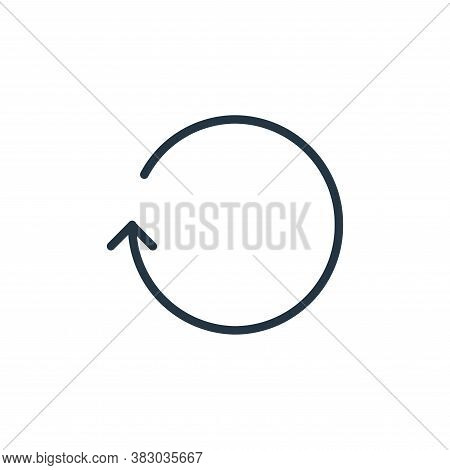repeat icon isolated on white background from media players collection. repeat icon trendy and moder