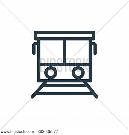train icon isolated on white background from school collection. train icon trendy and modern train s