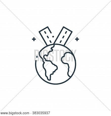 planet earth icon isolated on white background from mother earth day collection. planet earth icon t