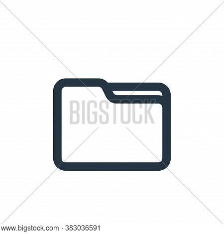 empty folder icon isolated on white background from file and folder collection. empty folder icon tr